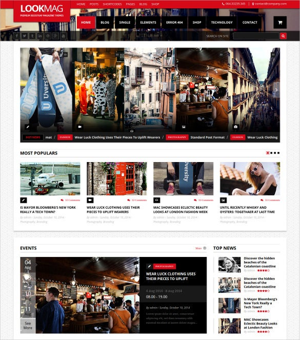 html5 magazine website template
