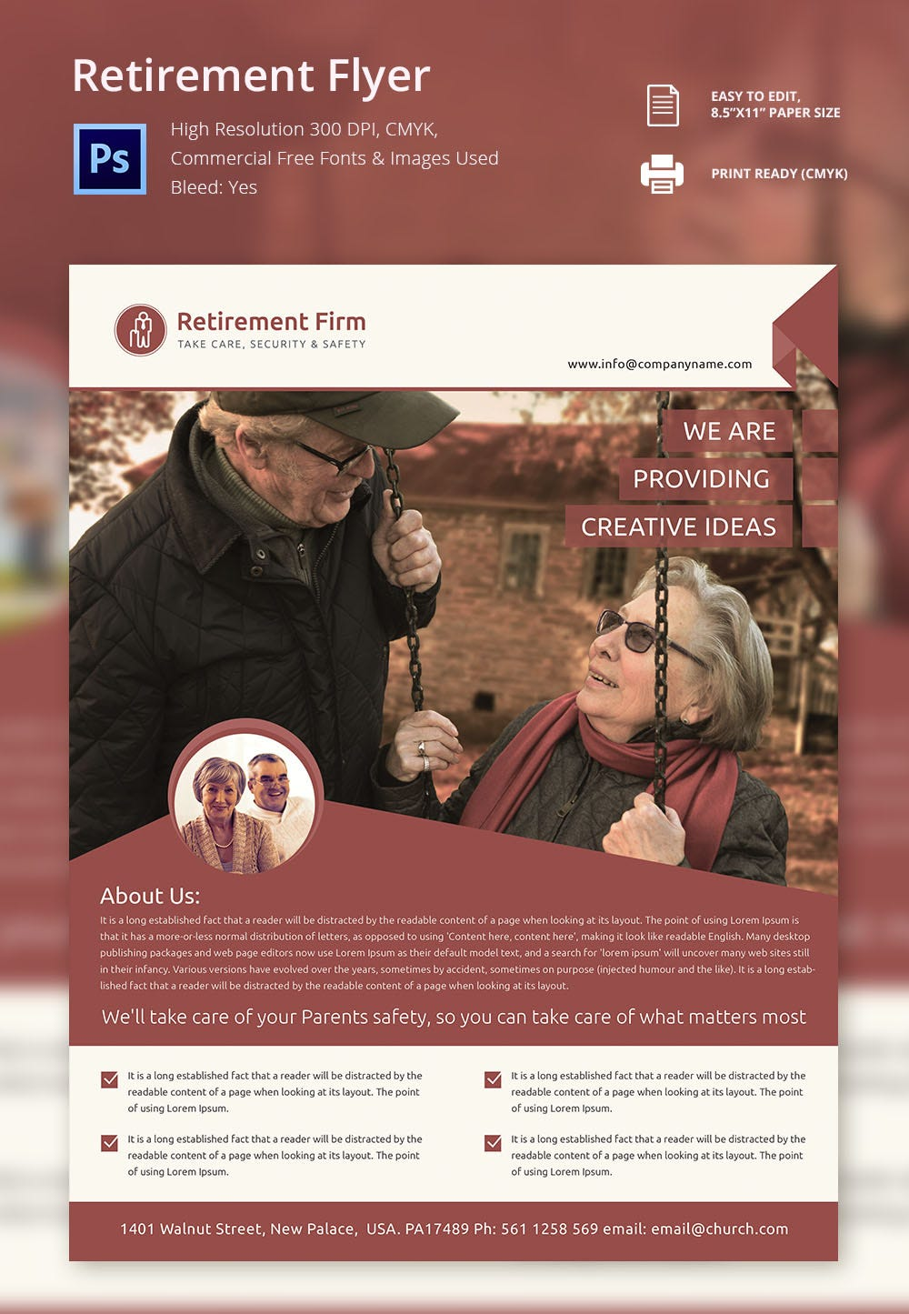 Editable Retirement Flyer Template