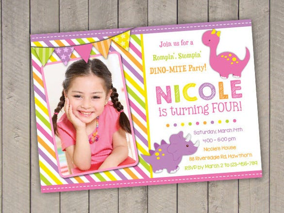 girl dinosaur invitation dinosaur birthday invitation