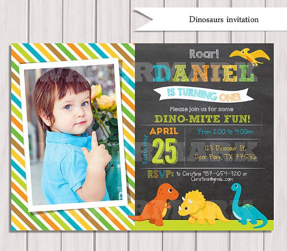 digital dinosaurs birthday party personalized printable