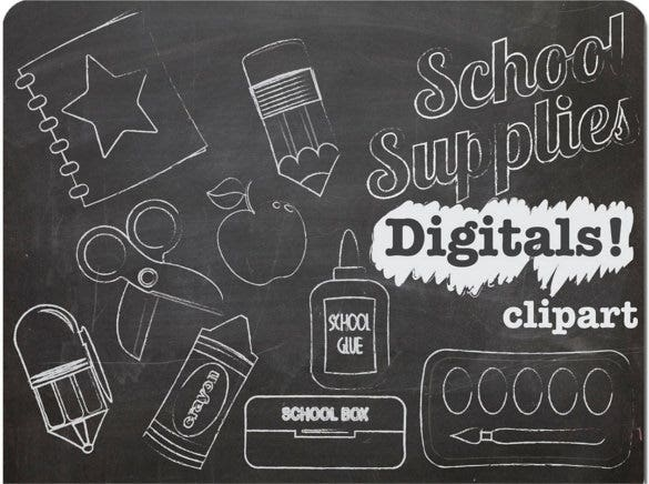 chalk graphics including blackboard