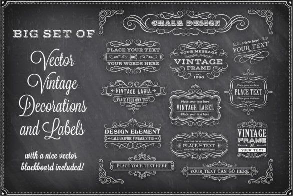 vector chalkboard decorations