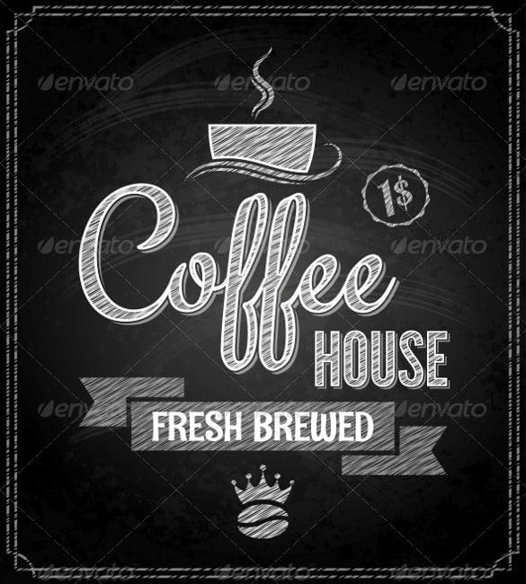 coffee menu design chalkboard background