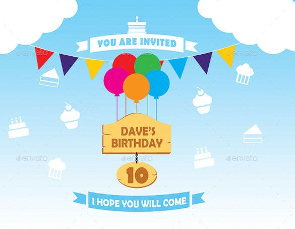 Birthday Invitation U0026 Post Card. Download  Birthday Invitations Free Download