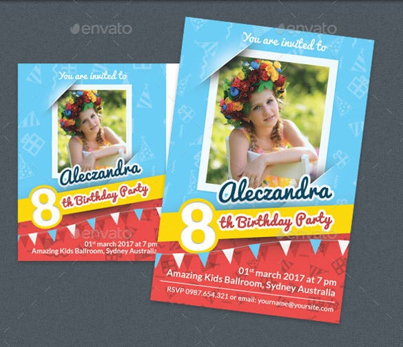 birthday party post card and invitation card