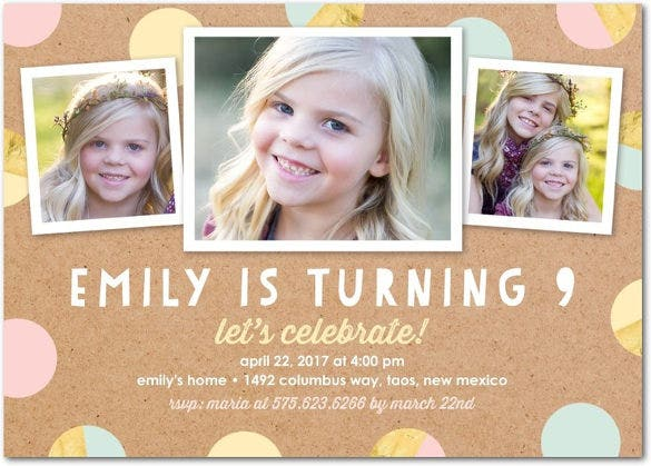 dazzling birthday invitation post card