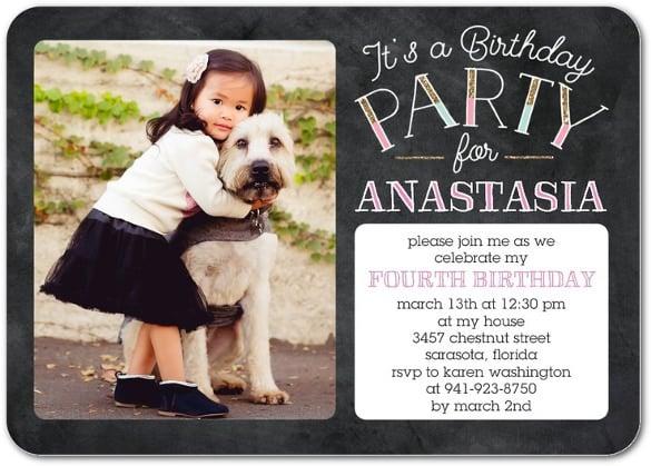 flattering birthday party invitation