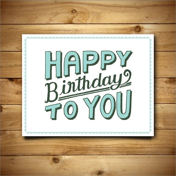 vintage printable birthday card