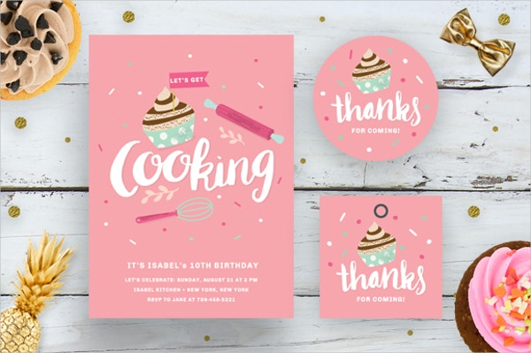 Printable Cooking Birthday Card