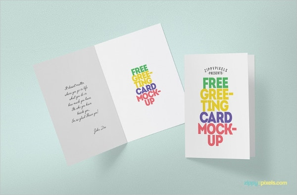 Printable Birthday Greeting Card Mockup