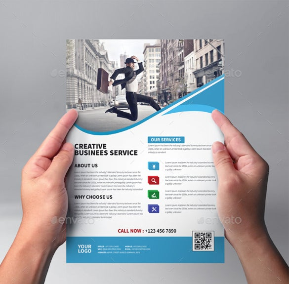 Business Flyer Templates Free PSD Illustrator Format - Psd brochure template