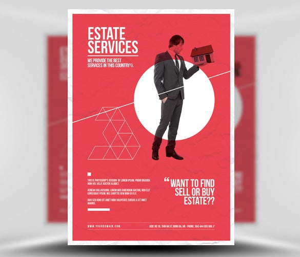 minimal business real estate flyer template download