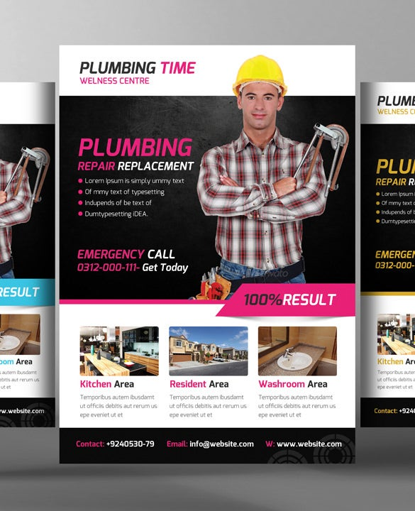 5 construction business flyer template bundle psd
