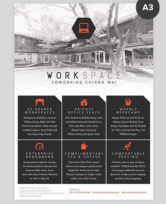 multipurpose a3 business flyer template download
