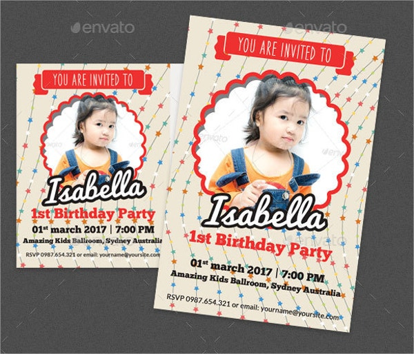 Birthday Post Card and Invitation Card