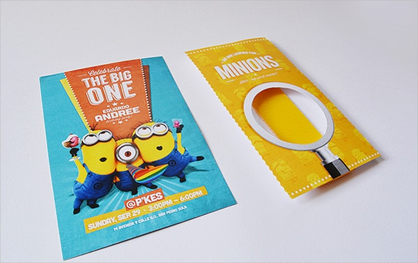 minion birthday invite card printable