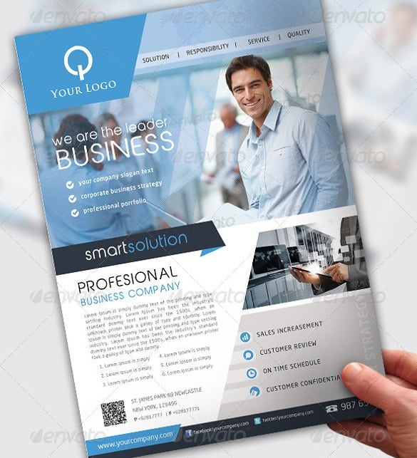 business flyer template 4 design in psd format