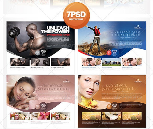 7 multipurpose business flyer template psd download