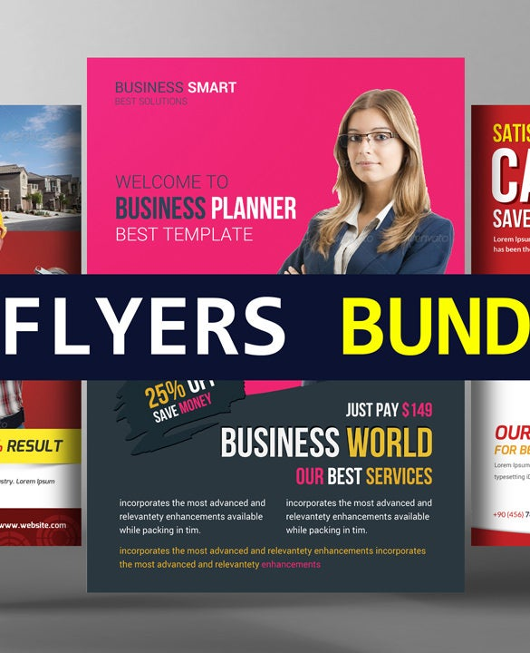 6 corporate business flyers bundle template download