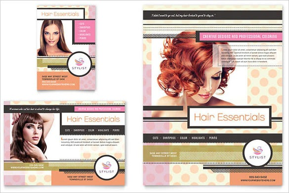 hairstylist flyer ad template download