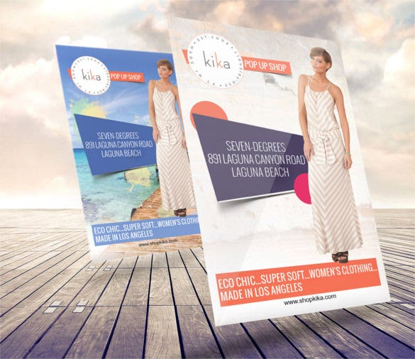 fashion business flyer template psd design download