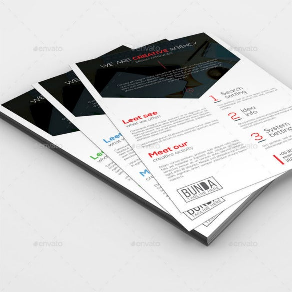 3 clean business flyer templates psd format download