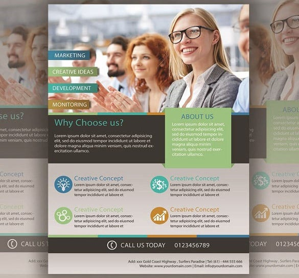 Download Business Flyer Psd Fearful Copying