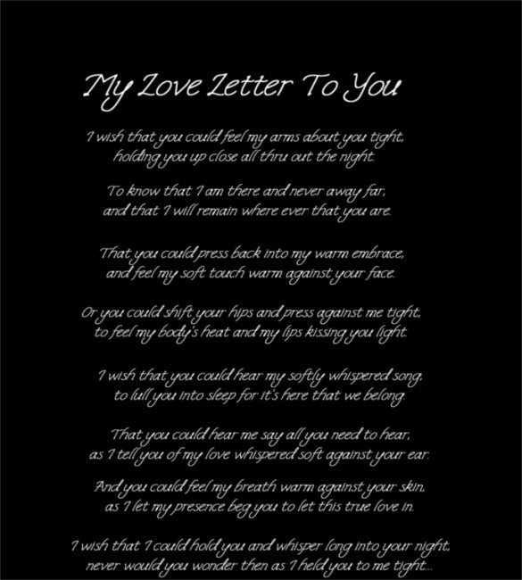 Love Letters For Him  Free Sample Example Format Download