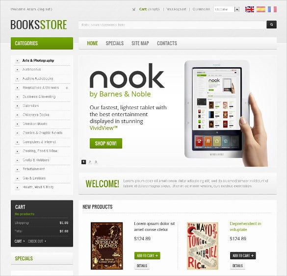 pretty books magazines store prestashop template
