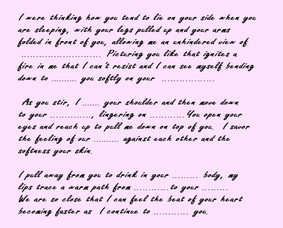love letter for your gf