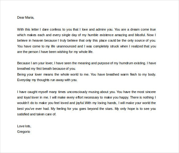 Love Letters For Her  Free Sample Example Format Download