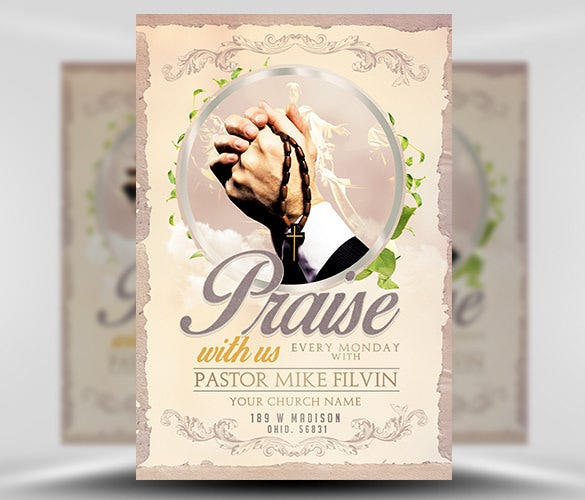 church event flyer template psd format download