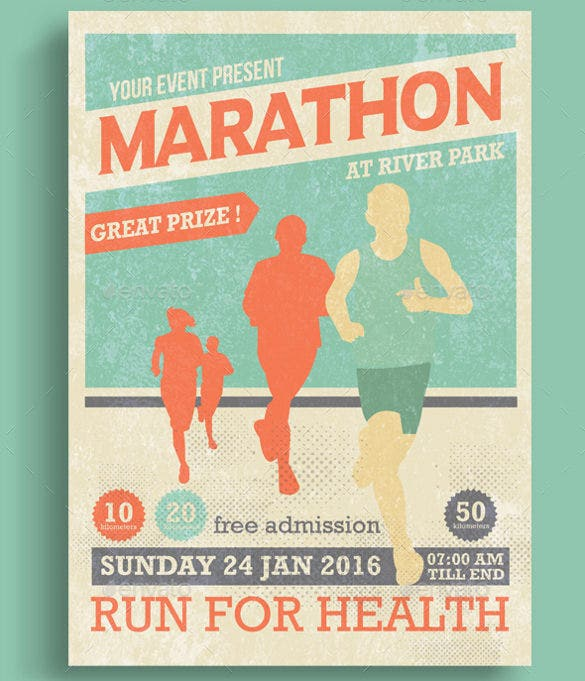marathon event flyer template photoshop psd download