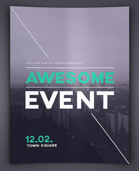 awesome event flyer psd template download