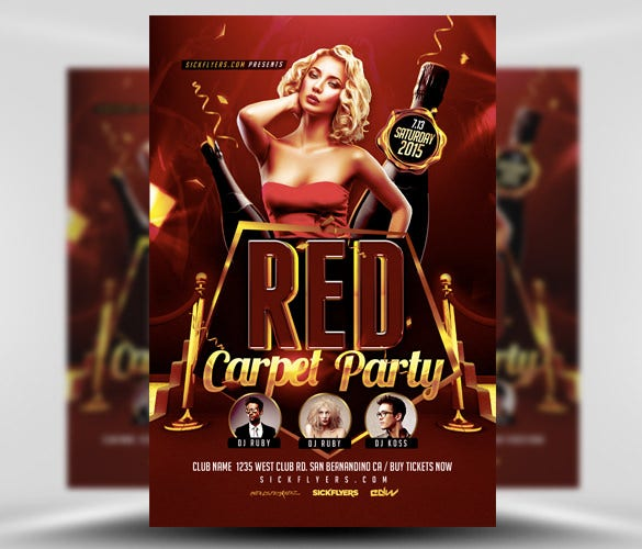 red carpet event flyer template psd download
