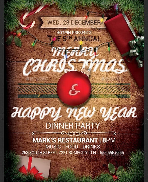 christmas event flyer template psd design download