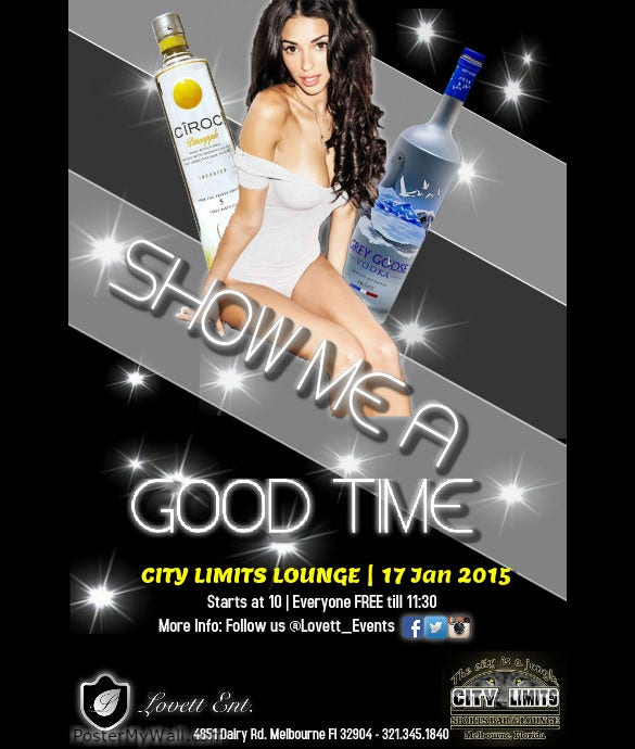 good time event flyer template free customize online