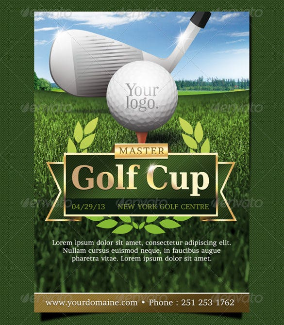 golf event flyer template psd design download