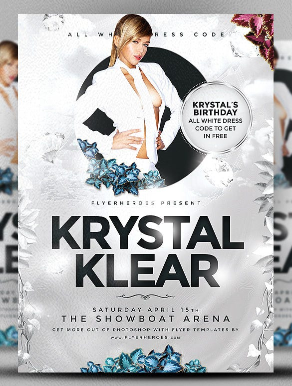 download krystal klear event flyer template psd format