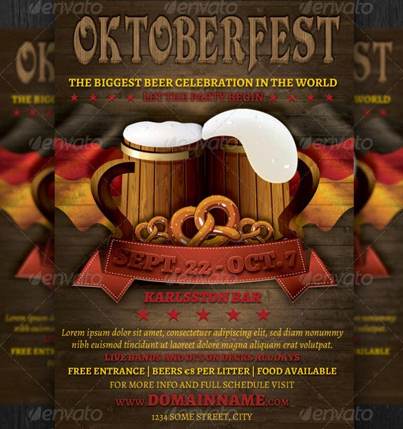 oktoberfest event flyer template psd download