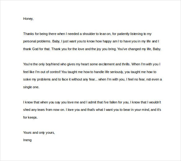 Attractive Sample Love Letter To Write A Boyfriend Regard To Love Letter Template For Him