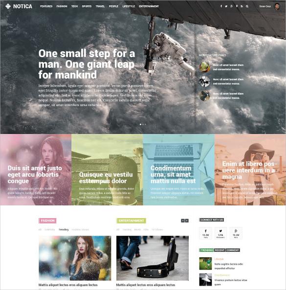 responsive news magazine psd theme