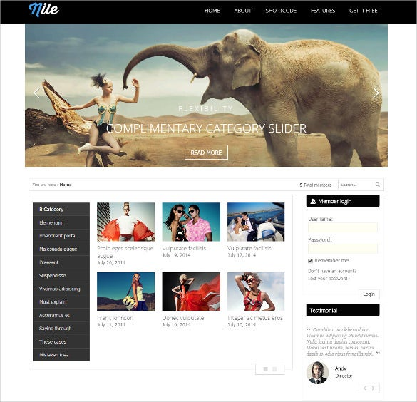 free wordpress magazine psd theme