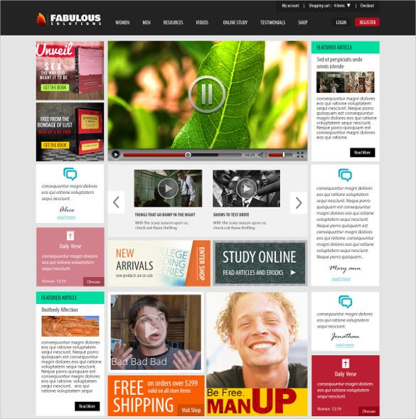 news magazine blog psd template