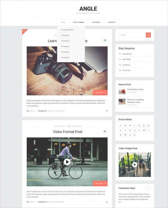 simple blog psd theme