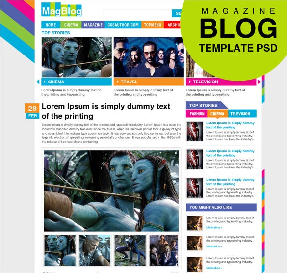 free magazine blog theme