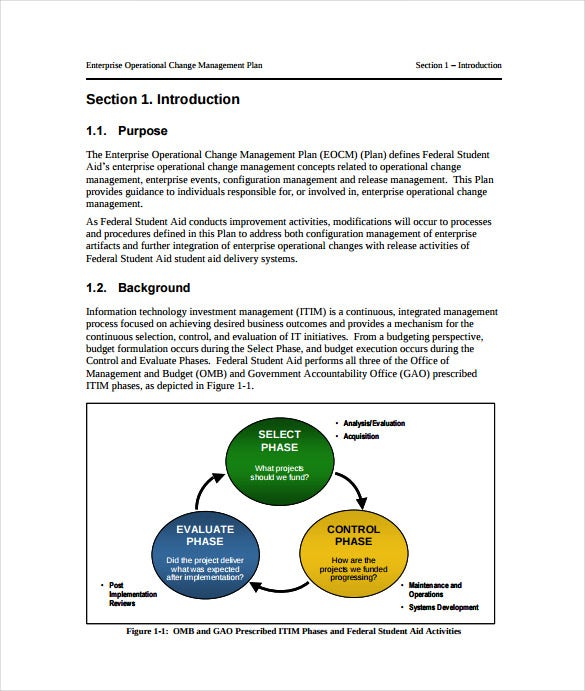 enterprise operational change management plan sample pdf free download