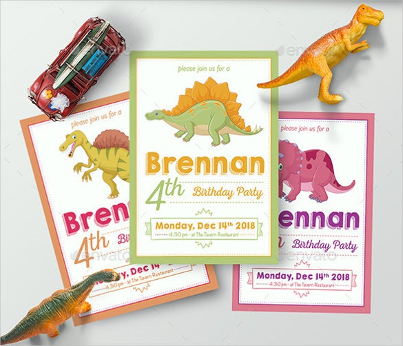 30 Dinosaur Birthday Invitation Templates PSD AI Vector EPS