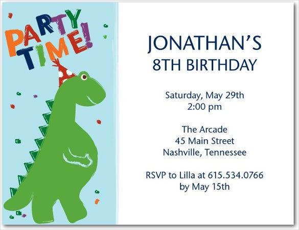 dinosaur birthday invitations | wblqual, Birthday invitations