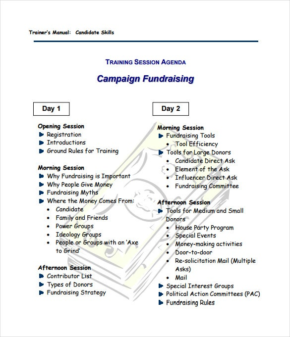 campaign fundraising plan sample template free downloads